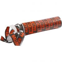 Serpentiner, svart, orange, 2 rl./ 1 pk.