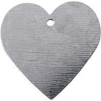 Metallhjerte, str. 30x30 mm, 15 stk./ 1 pk.