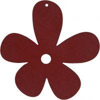 Blomst, str. 57x51 mm, vinrød, 10 stk./ 1 pk.
