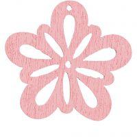 Blomst, dia. 27 mm, rosa, 20 stk./ 1 pk.