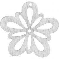 Blomst, dia. 27 mm, råhvit, 20 stk./ 1 pk.