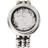 Cabochonring, dia. 19 mm, hullstr. 14 mm, antikk sølv, 1 stk.