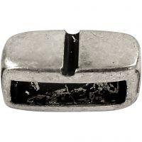 Leddperle, str. 6x14 mm, hullstr. 10x3 mm, antikk sølv, 5 stk./ 1 pk.