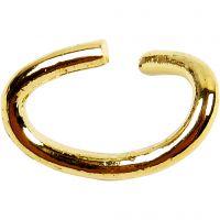Oval-ring, tykkelse 0,7 mm, forgylt, 50 stk./ 1 pk.