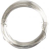 Sølvtråd, tykkelse 0,8 mm, forsølvet, 6 m/ 1 rl.