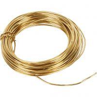 Messingtråd, tykkelse 1,2 mm, 100 g, messing, 10 m/ 1 rl.