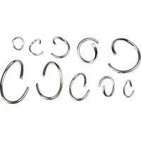 Oval- og O-ring sortiment, forsølvet, 800 ass./ 1 pk.