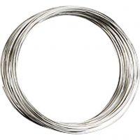 Memory wire, dia. 5 cm, tykkelse 0,7 mm, forsølvet, 1 stk.