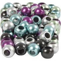 Kongomix, dia. 10 mm, hullstr. 4 mm, metallic farger, 125 ml/ 1 pk., 60 g