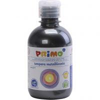PRIMO metallic maling, svart, 300 ml/ 1 pk.