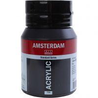 Student kunstner akrylmaling, dekkende, Oxide black, 500 ml/ 1 fl.