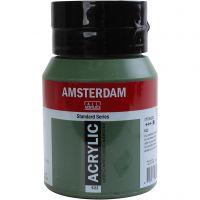 Student kunstner akrylmaling, dekkende, Olive green deep, 500 ml/ 1 fl.