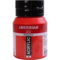Student kunstner akrylmaling, semi opaque, Naphtol red medium, 500 ml/ 1 fl.