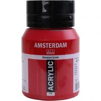 Student kunstner akrylmaling, semi opaque, rød, 500 ml/ 1 fl.