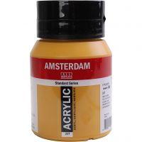 Student kunstner akrylmaling, dekkende, yellow ochre, 500 ml/ 1 fl.