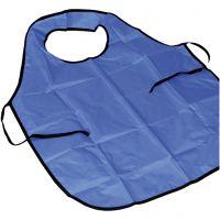 Forkle med krage, L: 100 cm, str. M-XL cm, blå, 1 stk./ 1 pk.