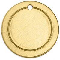 Tag, Ring, dia. 20 mm, hullstr. 1,85 mm, tykkelse 1 mm, messing, 6 stk./ 1 pk.