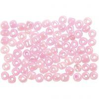 Rocaiperler, dia. 4 mm, str. 6/0 , rosa, 500 g/ 1 pk.