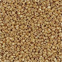 Rocaiperler, dia. 1,7 mm, str. 15/0 , hullstr. 0,5-0,8 mm, messing, 25 g/ 1 pk.