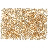 Rocaiperler, dia. 1,7 mm, str. 15/0 , hullstr. 0,5-0,8 mm, Fersken, 500 g/ 1 pose