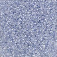 Rocaiperler, dia. 1,7 mm, str. 15/0 , hullstr. 0,5-0,8 mm, lys blå, 25 g/ 1 pk.