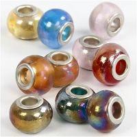 Glasslinks, dia. 13-15 mm, hullstr. 4,5-5 mm, 10 ass./ 1 pk.