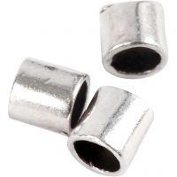 Enderør, str. 2x2 mm, hullstr. 1,4 mm, forsølvet, 80 stk./ 1 pk.