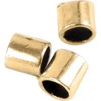 Enderør, str. 2x2 mm, hullstr. 1,4 mm, forgylt, 80 stk./ 1 pk.