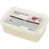 Såpemasse, transparent, 1 kg