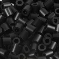 Rørperler, str. 5x5 mm, hullstr. 2,5 mm, medium, black (32220), 1100 stk./ 1 pk.