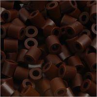 Rørperler, str. 5x5 mm, hullstr. 2,5 mm, medium, brun (32229), 1100 stk./ 1 pk.
