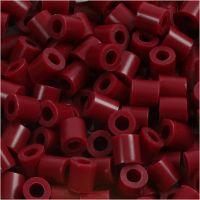 Rørperler, str. 5x5 mm, hullstr. 2,5 mm, medium, vinrød (32239), 6000 stk./ 1 pk.