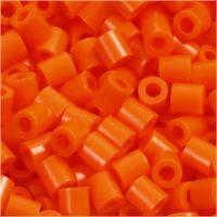 Rørperler, str. 5x5 mm, hullstr. 2,5 mm, medium, orange, klar (32233), 1100 stk./ 1 pk.