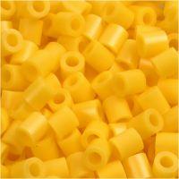 Rørperler, str. 5x5 mm, hullstr. 2,5 mm, medium, gul (32227), 1100 stk./ 1 pk.