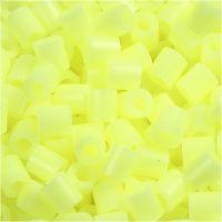 Rørperler, str. 5x5 mm, hullstr. 2,5 mm, medium, gul pastell (32244), 6000 stk./ 1 pk.