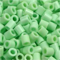 Rørperler, str. 5x5 mm, hullstr. 2,5 mm, medium, grønn pastel (32252), 1100 stk./ 1 pk.