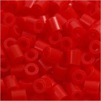 Rørperler, str. 5x5 mm, hullstr. 2,5 mm, medium, lys rød (32225), 6000 stk./ 1 pk.