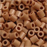 Rørperler, str. 5x5 mm, hullstr. 2,5 mm, medium, lys brun (32260), 1100 stk./ 1 pk.