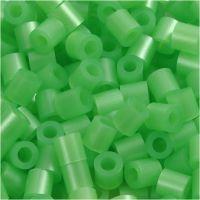 Rørperler, str. 5x5 mm, hullstr. 2,5 mm, medium, grønn perlemor (32240), 1100 stk./ 1 pk.