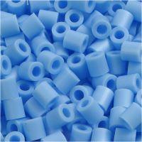 Rørperler, str. 5x5 mm, hullstr. 2,5 mm, medium, blå pastell (32224), 6000 stk./ 1 pk.