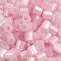 Rørperler, str. 5x5 mm, hullstr. 2,5 mm, medium, rosa perlemor (32259), 1100 stk./ 1 pk.