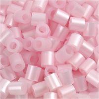 Rørperler, str. 5x5 mm, hullstr. 2,5 mm, medium, rosa perlemor (32259), 6000 stk./ 1 pk.