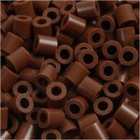 Rørperler, str. 5x5 mm, hullstr. 2,5 mm, medium, chocolate (32249), 6000 stk./ 1 pk.