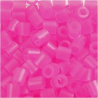 Rørperler, str. 5x5 mm, hullstr. 2,5 mm, medium, rosa neon (32257), 1100 stk./ 1 pk.