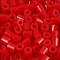 Rørperler, str. 5x5 mm, hullstr. 2,5 mm, medium, rød (32231), 6000 stk./ 1 pk.