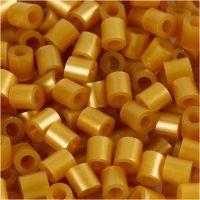 Rørperler, str. 5x5 mm, hullstr. 2,5 mm, medium, gull (32263), 6000 stk./ 1 pk.