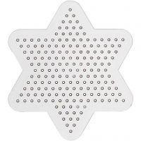 Perleplate, liten stjerne, dia. 10 cm, 10 stk./ 1 pk.