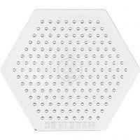Perleplate, liten sekskant, H: 7,5 cm, 10 stk./ 1 pk.