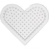 Perleplate, lite hjerte, H: 8 cm, 10 stk./ 1 pk.