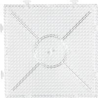 Perleplate, stor samlekvadrat, str. 15x15 cm, transparent, 1 stk.